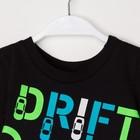 "Комплект: футболка и шорты KAFTAN ""Дрифт"" р.34 (122-128), синий, чёрный - фото 105468816"