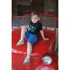 "Комплект: футболка и шорты KAFTAN ""Дрифт"" р.34 (122-128), синий, чёрный - фото 105468814"