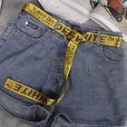 Ремень женский, ширина - 3,5 см, пряжка металл, цвет жёлтый