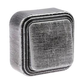 """Выключатель """"Элект"""" VA 16-131-ЧС, 6 А, 1 клавиша, наружный, цвет черный под серебро"""