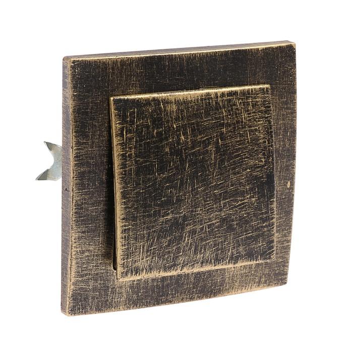 """Выключатель """"Элект"""" VS 16-131-ЧБ, 1 клавиша, скрытый, 6А, цвет черный под бронзу - фото 305505137"""