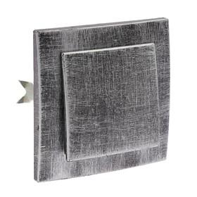 """Выключатель """"Элект"""" VS 16-131-ЧС, 6 А, 1 клавиша, скрытый, цвет черный под серебро"""