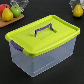 Контейнер для хранения с крышкой IDEA, 9 л, 36×24,5×17 см, цвет салатовый