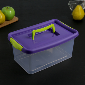 Контейнер для хранения с крышкой, 4 л, 28,5×19×14 см, цвет фиолетовый