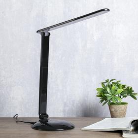 Светильник настольный 3 режима яркости 1х9Вт LED черный