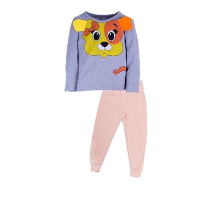 Пижама для девочки Orange dog, цвет оранжевый , рост 86-92 см