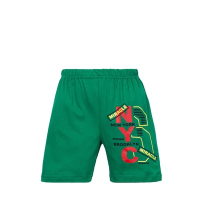 Шорты для мальчика Famous NYC, цвет зелёный, рост 104-110 см