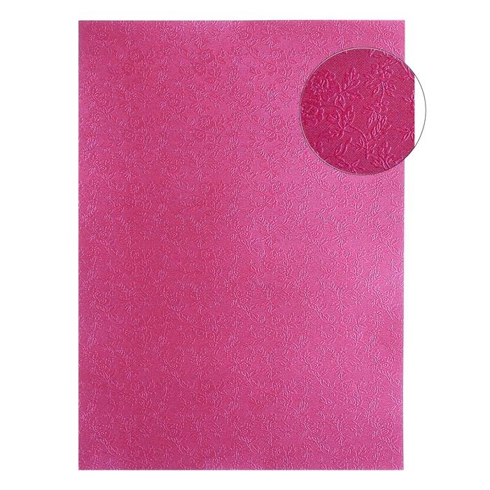 "Бумага ""Цветник на бордовом"" набор 20 листов формат А-4"