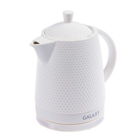 Чайник электрический Galaxy GL 0507, 1400 Вт, 1.8 л, керамика, автоотключение, белый