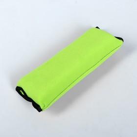 Накладка - подушка на ремень безопасности, салатовая