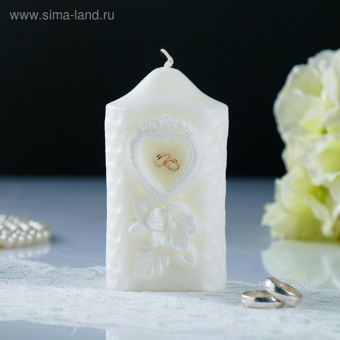 """Свеча свадебная """"Камея"""", белая, 6×11 см"""