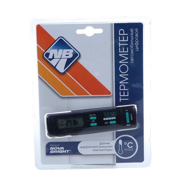 Термометр Nova Bright BT3, чёрный с часами