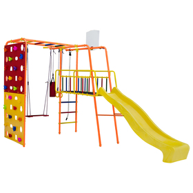 Детский спортивный комплекс уличный Street 3 Smile, цвет оранжевый/радуга