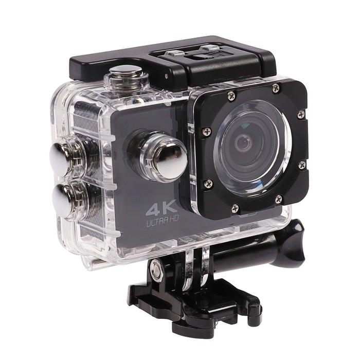 Экшн-камера Luazon RS-04, FHD, Wi-fi, чехол для подводной съемки, 18 предметов, черная