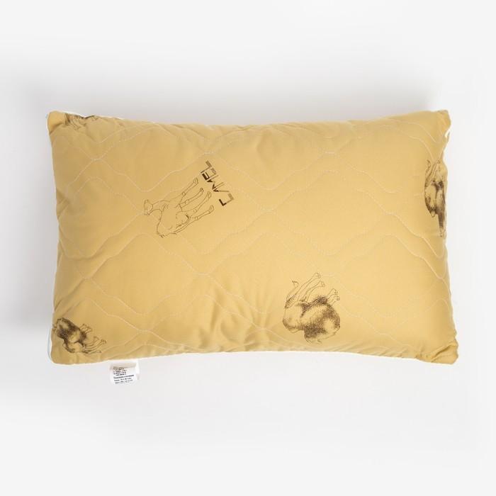 Подушка стёганая, размер 40х60 см, вербл. шерсть/тик (сумка)