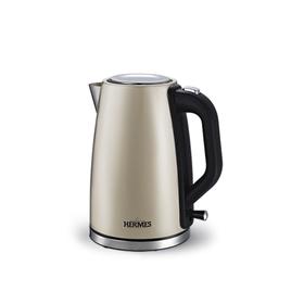 Чайник электрический HT-EK704, 2200 Вт, 1.7 л, металл, съёмный моющийся фильтр, золотистый