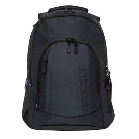 Рюкзак молодежный Grizzly RQ-903-2 48x36х19 см, эргономичная спинка, чёрный