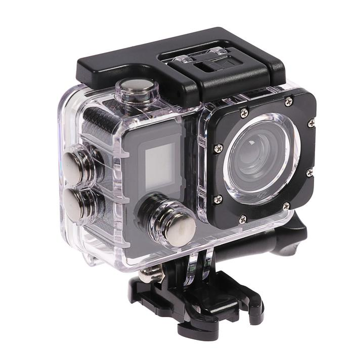 Экшн-камера Luazon RS-01, 4К, Wi-fi, пульт, чехол для подводной съемки, черная