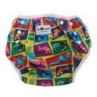 Многоразовый подгузник для плавания «Конопуша» Разноцветные животные, 4-18 кг