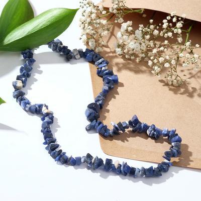 "Beads little small ""Lapis"",light 45cm"