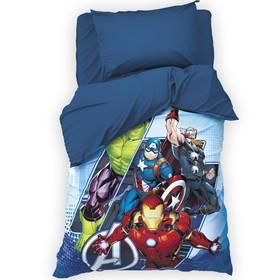 Детское постельное бельё 1,5 сп «Мстители», 143х215 см, 150х214 см, 50х70 см -1 шт.