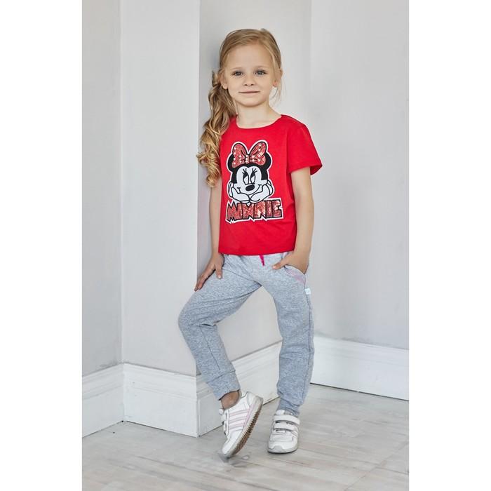 """Футболка """"Minnie"""", Минни Маус, р. 30, рост 98-104 см, красный"""
