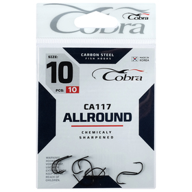 Крючки Cobra ALLROUND CA117-10, 10 шт.