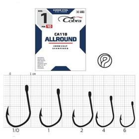 Крючки Cobra ALLROUND CA118-1/0, 10 шт.
