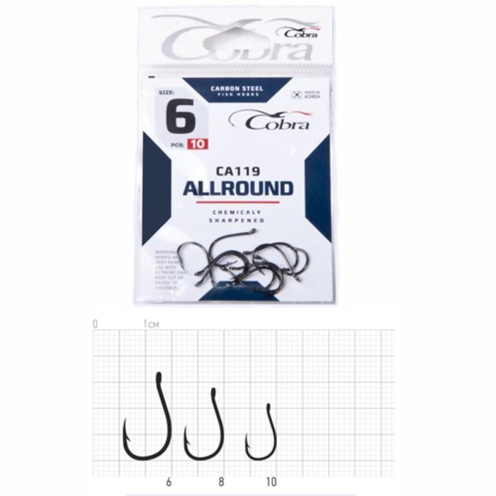 Крючки Cobra ALLROUND CA119-8, 10 шт.