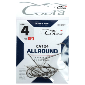 Крючки Cobra ALLROUND CA124-4, 10 шт.
