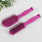 Набор расчёсок, 2 предмета, цвет розовый