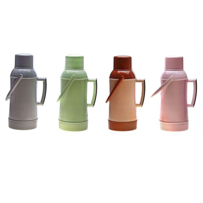 Термос с ручкой «Кофе с молоком», 3.2 л, 1 кружка, 6-8 ч, микс