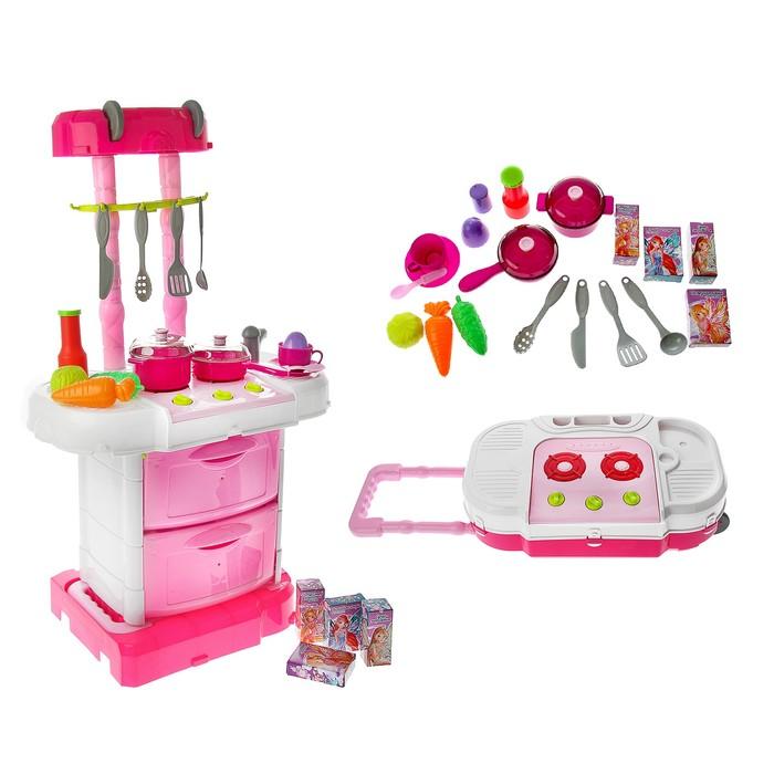 """Игровой модуль """"Волшебная кухня-чемоданчик"""" феи ВИНКС, 18 предметов + наклейки SL-00943 287"""