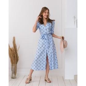 Платье женское MINAKU Peas, размер 42, цвет голубой Ош