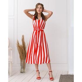 Сарафан женский MINAKU Striped, размер 50, цвет красный/белый Ош