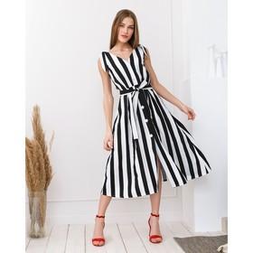 Сарафан женский MINAKU Striped, размер 46, цвет чёрный/белый Ош