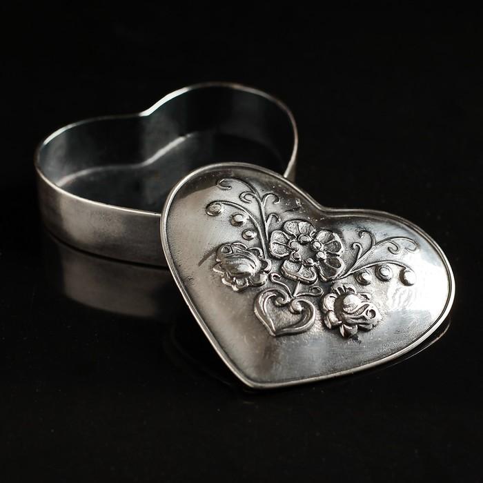 Шкатулка Antique heart с посеребрением