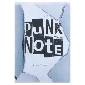 Тетрадь 40 листов в клетку PUNK NOTE обложка, мелованный картон, ламинация Soft Touch, тонированный блок 70 г/м²