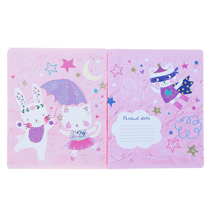 Тетрадь 48 листов клетка «Яркое настроение», обложка мелованный картон, матовая ламинация, ламинация Soft Touch, фольгирование, МИКС - фото 366921022