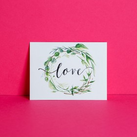 Открытка‒комплимент Love, 8 × 6 см Ош