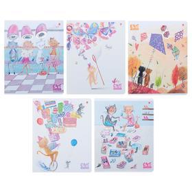 Тетрадь 48 листов клетка «Праздник. Кошки», обложка мелованный картон, УФ-лак, фольгирование, МИКС