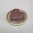 """Свеча """"Сердце Кофе"""" на подставке коричневая 9,5х3"""