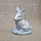 Свеча Кролик Пасхальный 7,5х10 серебро