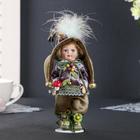 "Doll ceramic collectible ""flora Lesovik"" 24 cm"