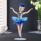 "Doll ceramic collectible ""Ballerina in blue"" 23 cm"