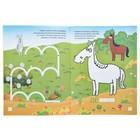Развивающая раскраска с наклейками «В лесу и в огороде» - фото 105685145