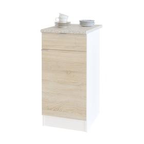 Стол с ящиками, 400 × 600 × 850 мм, цвет белый / дуб сонома