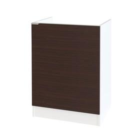 Стол под накладную мойку, 600 × 462 × 820 мм, цвет белый / венге