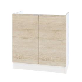Стол под накладную мойку, 800 × 462 × 820 мм, цвет белый / дуб сонома
