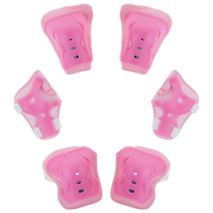 Защита роликовая OT-2020H р. L, цвет розовый